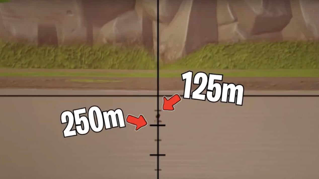 Fortnite pro sniper distance measure
