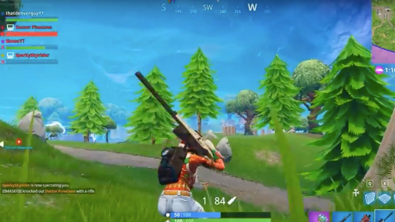 Fortnite pro sniper changing weapon